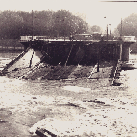 1944 : destruction des ponts de Lyon