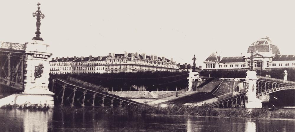 Pont de l'Université Seconde guerre mondiale Lyon