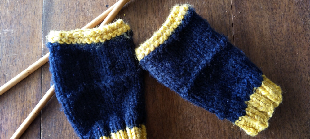mitaines gants hiver tricot