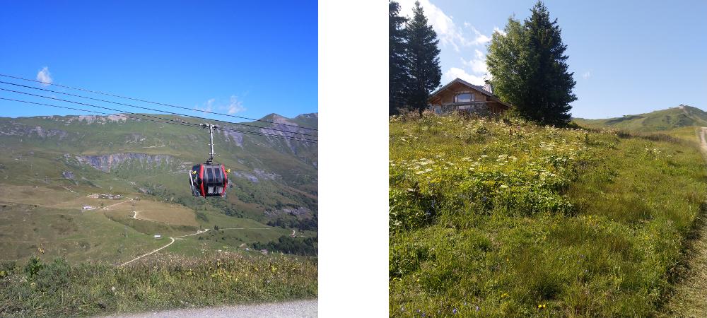 Télécabine Contamines Montjoie Mont blanc randonnée